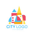 city logo modern design real estate and city vector image