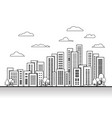 city town on white background line building vector image
