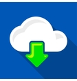 Cloud download icon vector image vector image