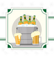 cold beers drink vector image