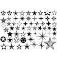 collection star vector image vector image