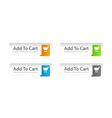 Colorful add to cart buttons set vector | Price: 1 Credit (USD $1)