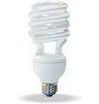 compact fluorescent light bulb vector image vector image