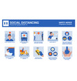 coronavirus safety advice - social distancing vector image