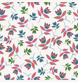 cream winter folk florals seamless pattern vector image vector image