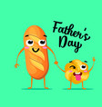 cute family daddy with child happy father s day vector image