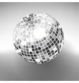 Disco ball isolated on grayscale background night