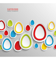 Easter eggs abstract colorful background vector image vector image
