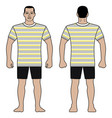 fashion man figure and t shirt design with vector image vector image