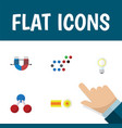 flat icon study set of nuclear chemical vector image vector image
