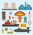 fossil-fuel nuclear atomic power and renewable vector image