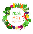 fresh farm vegetables banner design vector image vector image