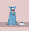 funny dog with tongue out craving for food cartoon vector image vector image