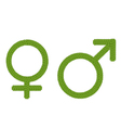Gender Symbol Made of Green Clover vector image