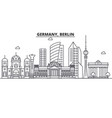 germany berlin architecture line skyline vector image vector image