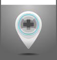Glossy Hospital Icon vector image