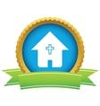Gold church logo vector image vector image