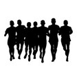 group runners men runnings vector image