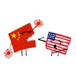 grunge hand-drawn two cartoon characters - usa vector image vector image