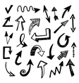 Hand Drawn Arrows Set vector image vector image