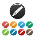 havana icons set color vector image vector image