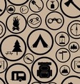 Hiking seamless pattern vector image
