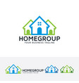 home group logo design vector image vector image