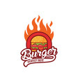 hot burger logo design vector image