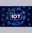 internet of things iot devices and connectivity vector image vector image