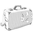 Journey suitcase vector image