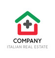 logo for real estate company in italy - creative vector image vector image