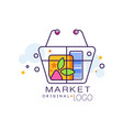 market original logo sale badge design element vector image vector image