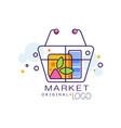 market original logo sale badge design element vector image