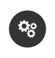mechanical gears icon in modern style for web vector image