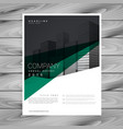 minimal abstract company brochure template design vector image vector image