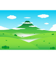Nature mountain background vector image