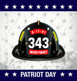 patriot day background vector image vector image