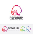 people forum logo design vector image
