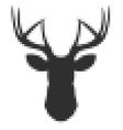 Pixel head of deer in vector image vector image