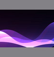 purple line curve transparent layer abstract vector image vector image