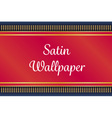 red and gold satin or velvet mat or carpet on deep vector image vector image