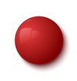 Red glossy button vector image vector image