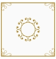 Round yellow and gold a retro the card vector image vector image