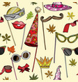 seamless pattern with party accessories vector image vector image