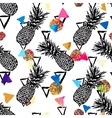 seamless tropical pattern background vector image vector image
