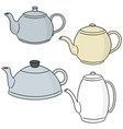 set of coffee or tea pot vector image