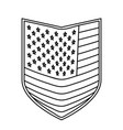 shield of flag united states of america monochrome vector image vector image