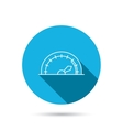 Speedometer icon Speed tachometer with arrow vector image vector image