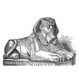 sphinx is a zoomorphic mythological figure vector image vector image