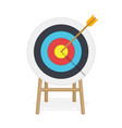target with arrow in center vector image vector image